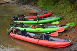 an image of a group of kayaks  during a Bushmasters expedition