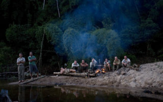 an image of a campfire chill out during our Jungle Survival travels