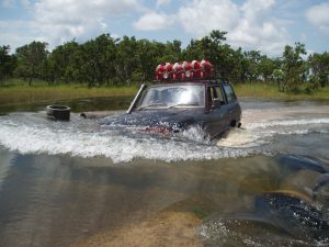 an image of a submerged 4x4 venture vehicle