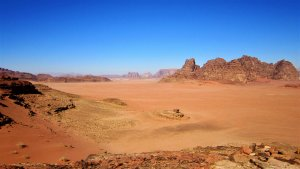 A picture of the desert in Jordan, the primary location used by Bushmasters to teach people how to survive in the desert