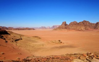 A picture of Jordan, the primary location used by Bushmasters to teach people how to survive in the desert