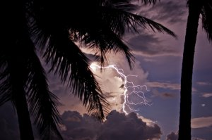 A picture of Catatumbo Lightning over Lake Maracaibo